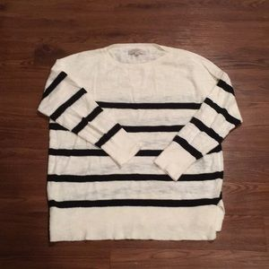 Loft striped sweater size Large 2018